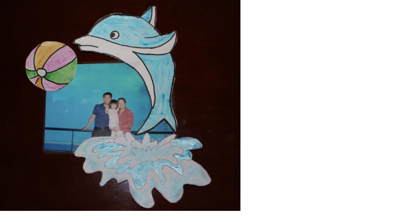 蛋壳海豚手工贴画