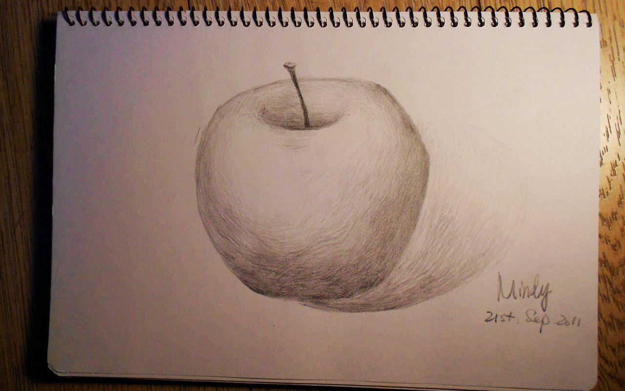 """苹果/女教师在黑板上画了一个苹果,然后提问:们,这是什么呀?""""..."""