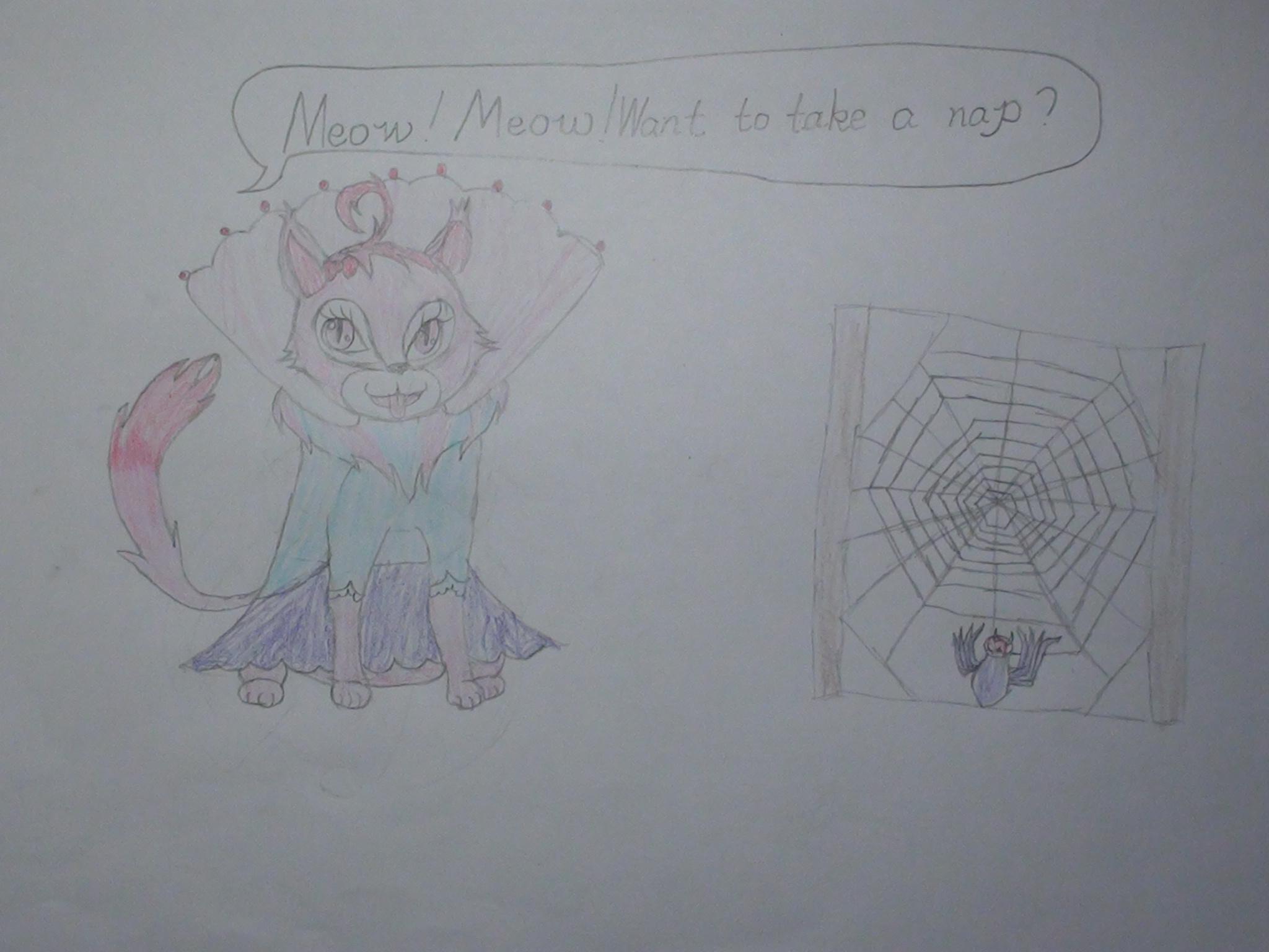 画一画,演一演——原版绘本《好忙的蜘蛛》读后(视频密码2003) -  李可儿 - 这里是包外实小四(1)班李可儿的成长博客