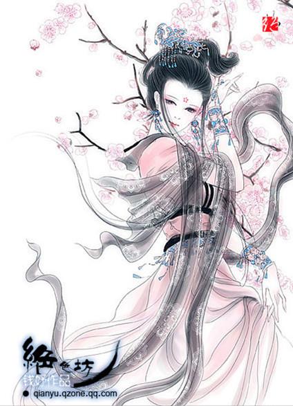 宫中女子见公主额上的梅花印非常美丽图片