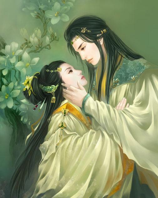 清朝宫廷手绘女子图