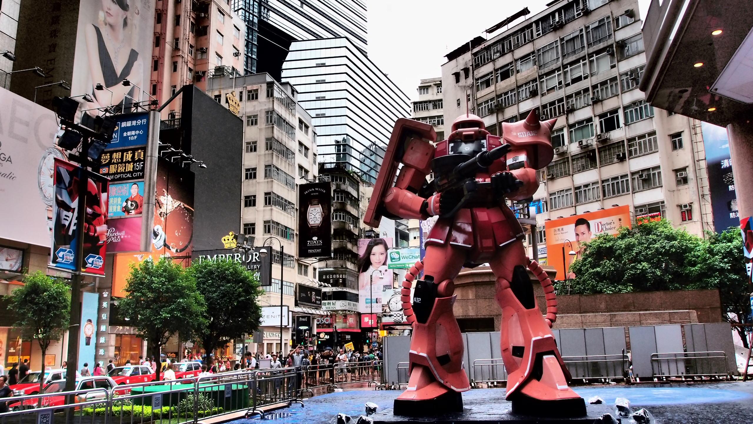 香港游记:巨大高达展览会!
