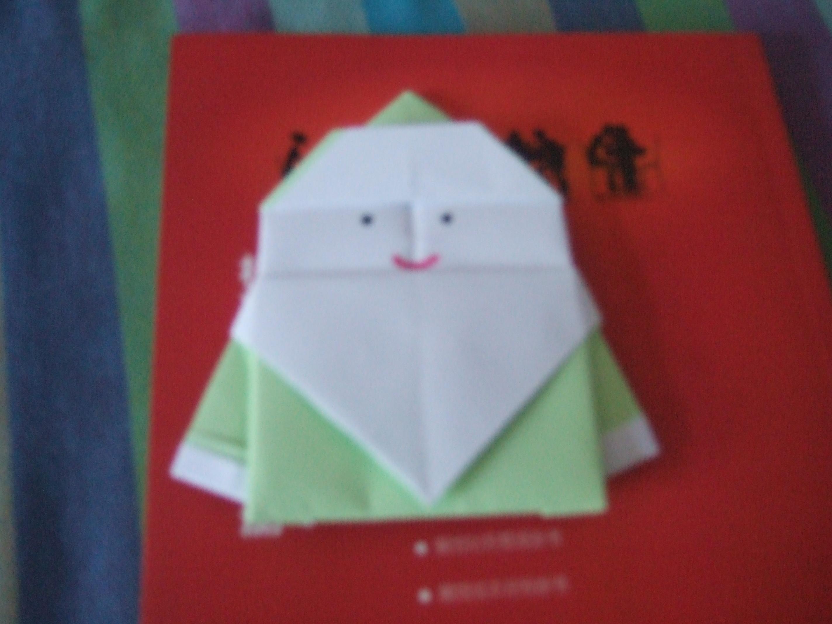 圣诞老人折纸 手工 三