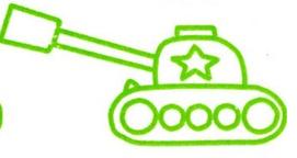坦克简笔画图片大全