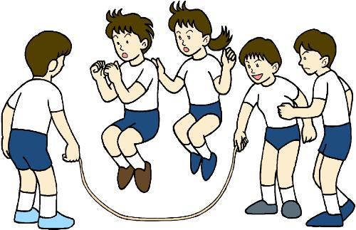 关于跳大绳卡通图片简笔画_
