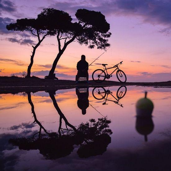 唯美图片:夕阳下的时光剪影。 - ★  牧笛  ★ - ☆☆【牧笛藝術视觉】☆☆