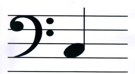 空白低音谱