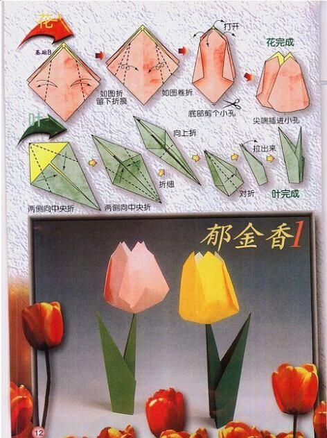 各种花的折纸图片
